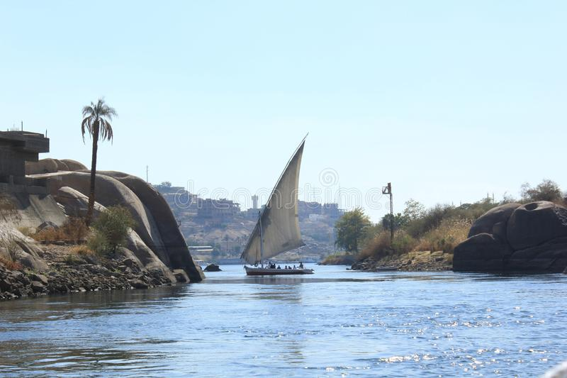 Bateau à voiles sur le Nil photographie stock libre de droits