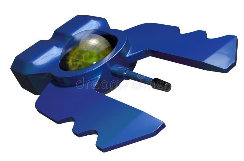 Bateau étranger de droid illustration de vecteur