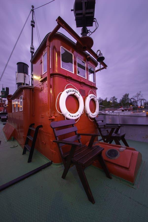 Download Bateau Amarré à Tampere, Finlande Image stock - Image du corde, tour: 45352023