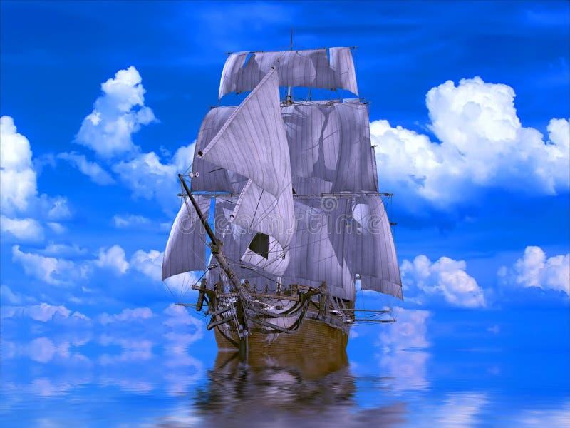 bateau antique illustration libre de droits