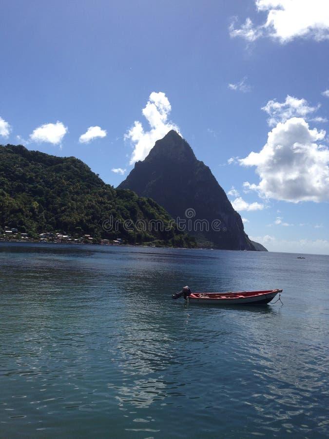 Bateau au St Lucia images libres de droits