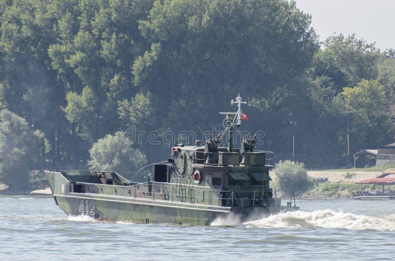 Bateau d'assaut de rivière images libres de droits