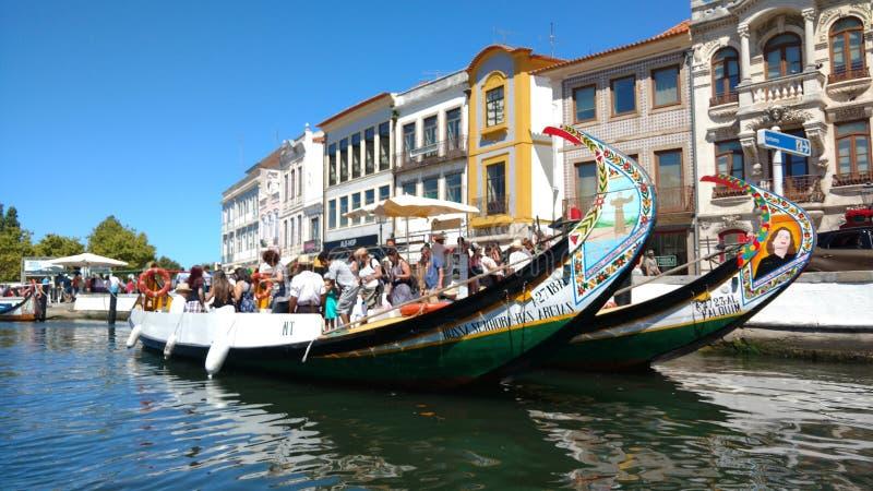 Bateau d'Aveiro images libres de droits