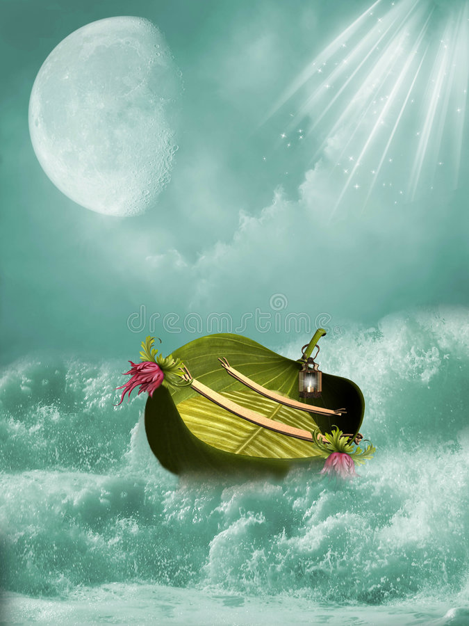 Bateau d'imagination illustration stock