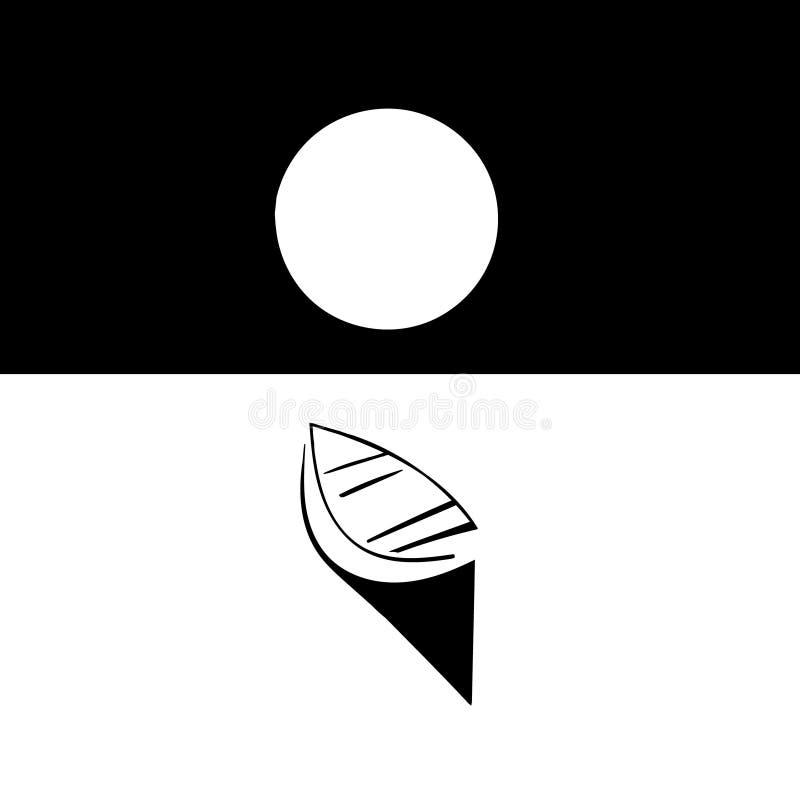 Bateau dans le clair de lune illustration stock