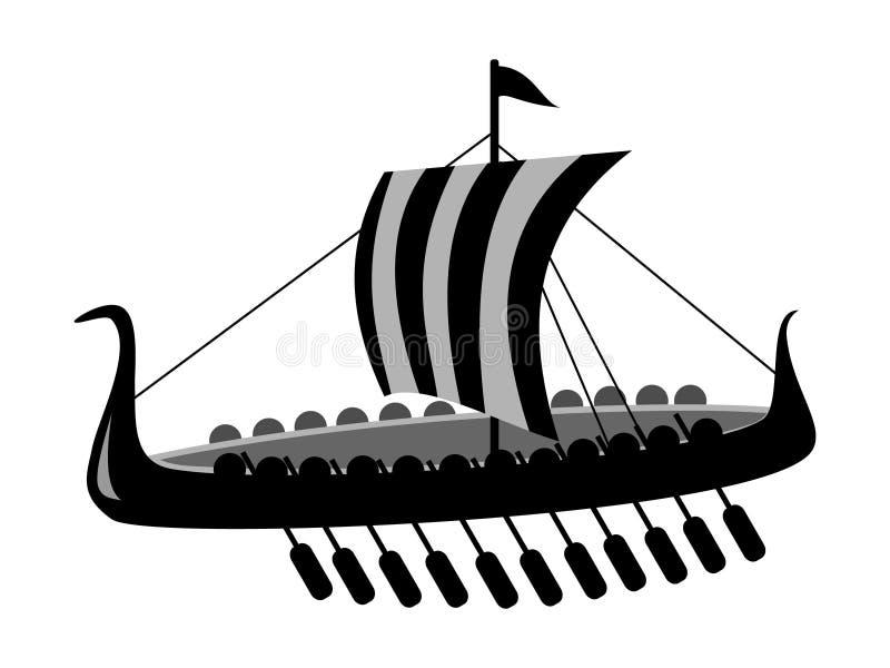 Bateau de bataille antique illustration libre de droits