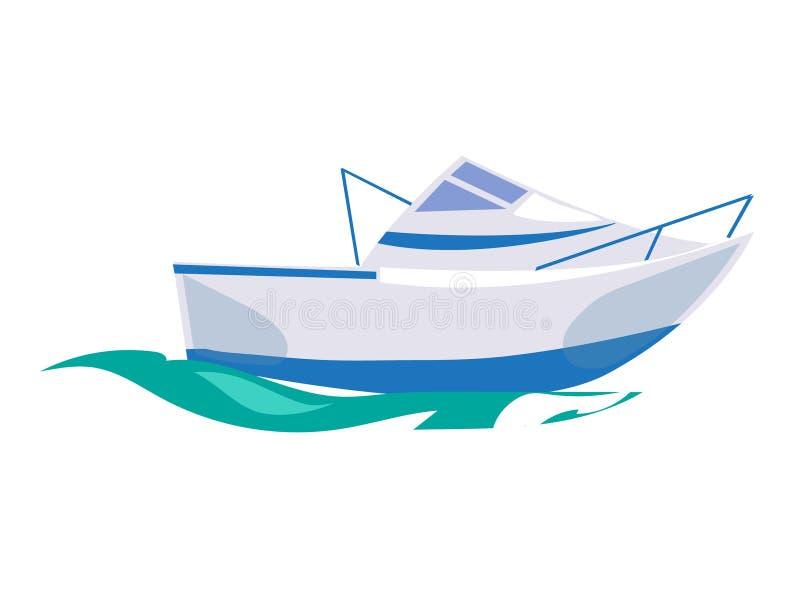 Bateau de canot automobile sur l'eau Illustration de vecteur illustration stock