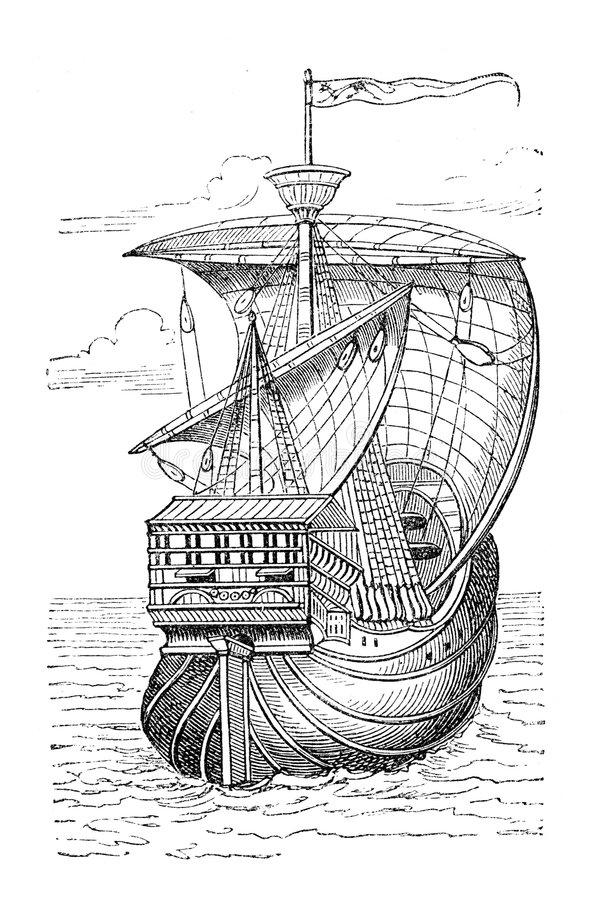 bateau de Columbus illustration stock