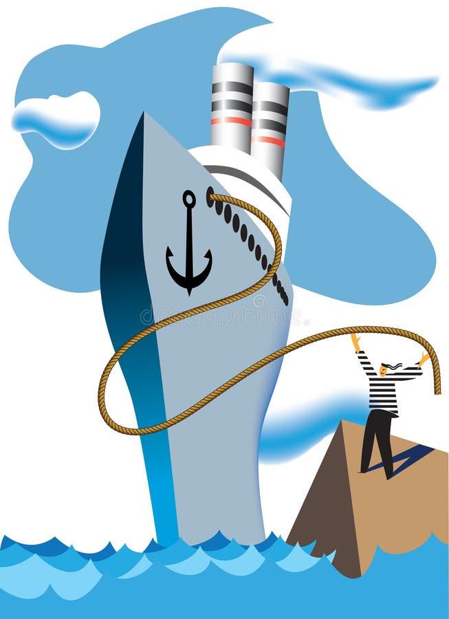 Bateau de croisière illustration de vecteur