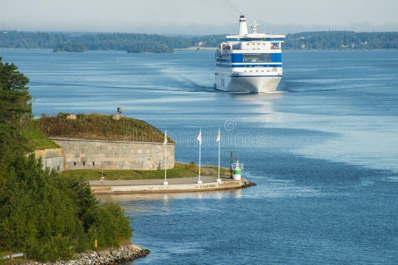 Bateau de croisière en mer baltique images libres de droits