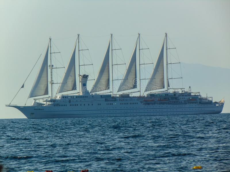 Bateau de croisi?re de Club Med 2 images libres de droits
