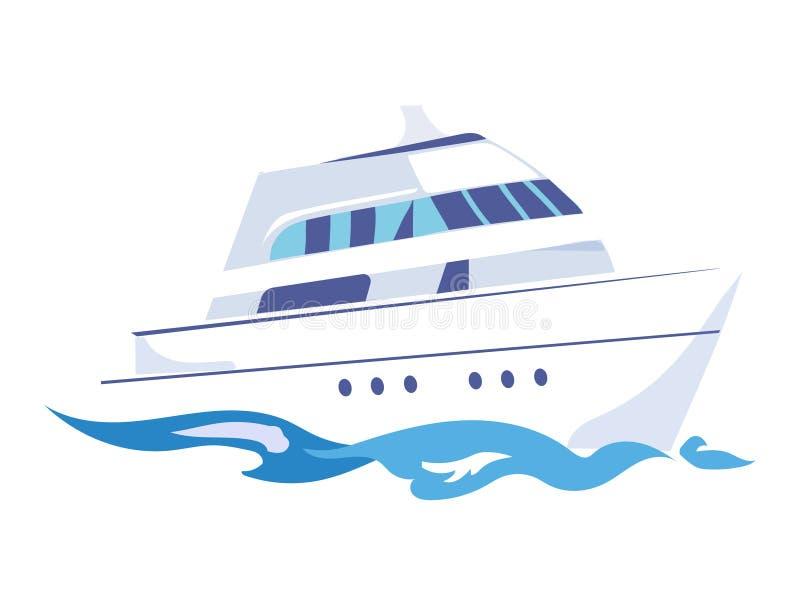 Bateau de Deux-plate-forme sur l'eau Illustration de vecteur illustration libre de droits