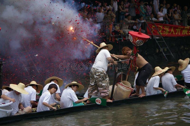 Bateau de dragon dans Guangzhou images stock