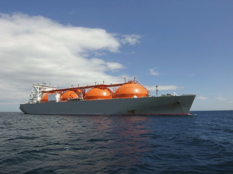 Bateau de gaz naturel image stock