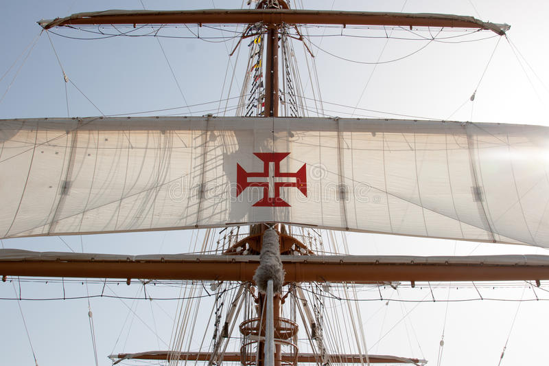 Bateau de la Marine portugais, photos libres de droits