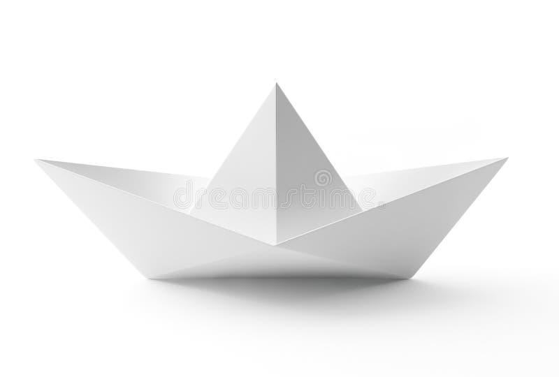Bateau de livre blanc illustration de vecteur