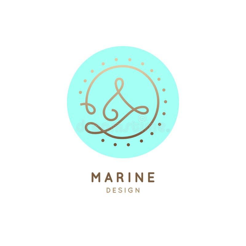 Bateau de logo illustration de vecteur