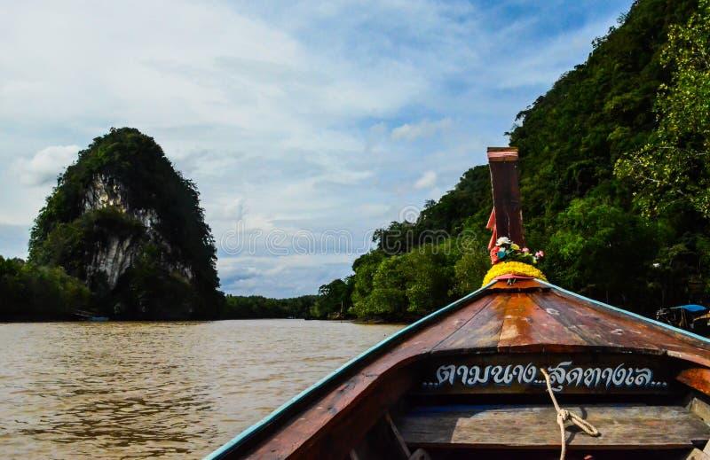 Bateau de longue queue sur la mer d'Andaman photographie stock