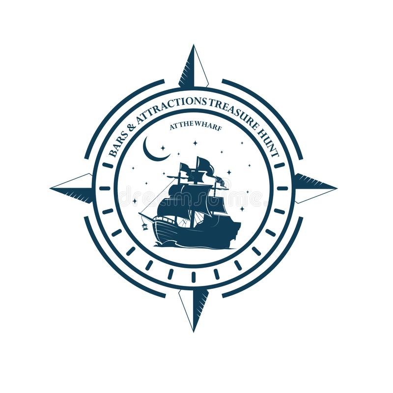 Bateau de marin illustration de vecteur