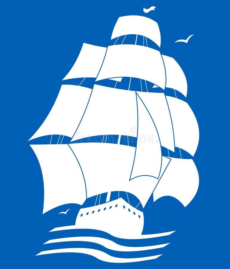 Bateau de navigation illustration libre de droits