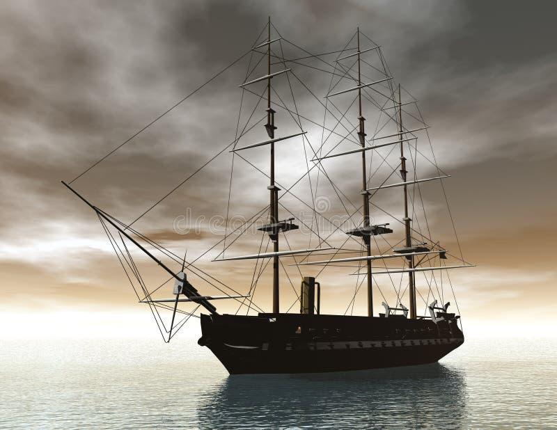 Bateau de navigation illustration de vecteur