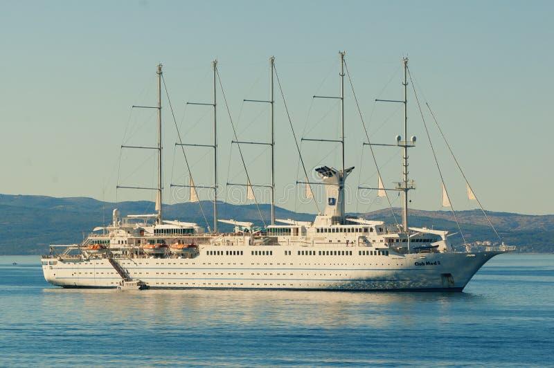 Bateau de navigation de Club Med 2 en Mer Adriatique photos libres de droits