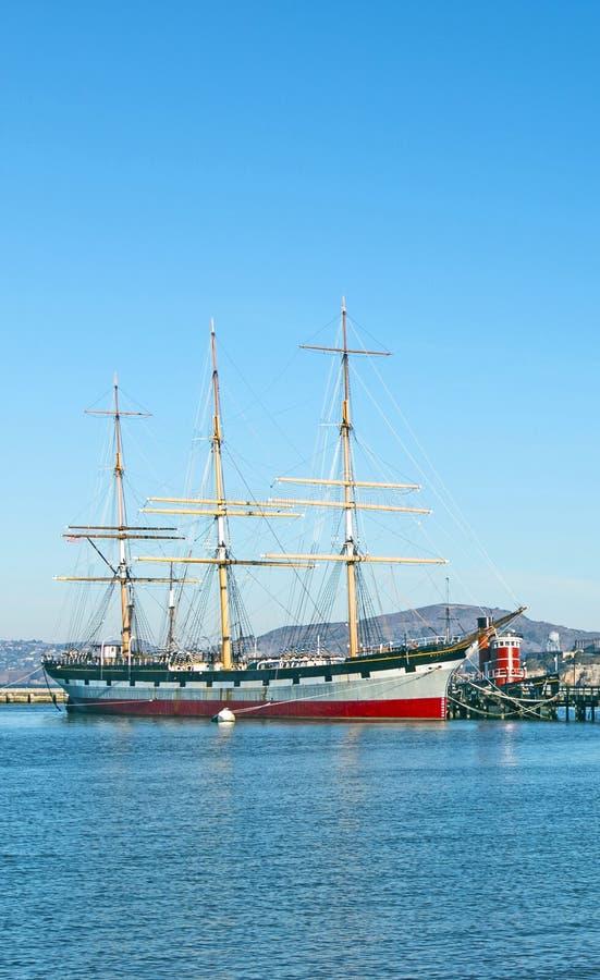 Bateau 1886 de navigation de vintage à San Francisco photo stock