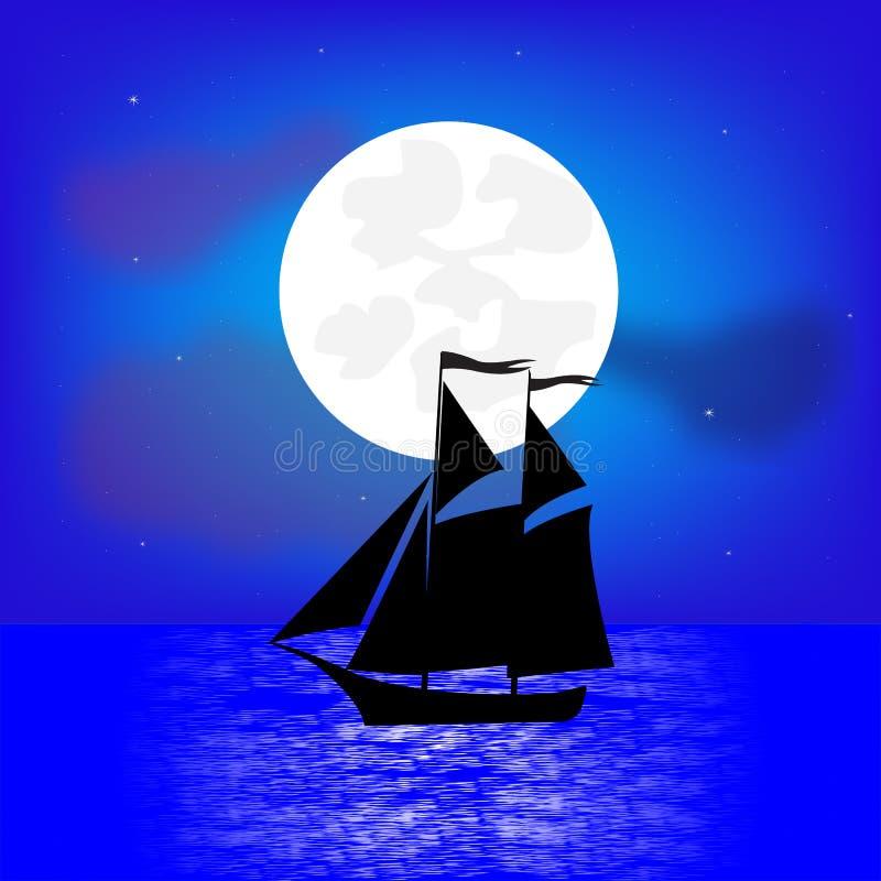 Bateau de navigation maritime illustration libre de droits