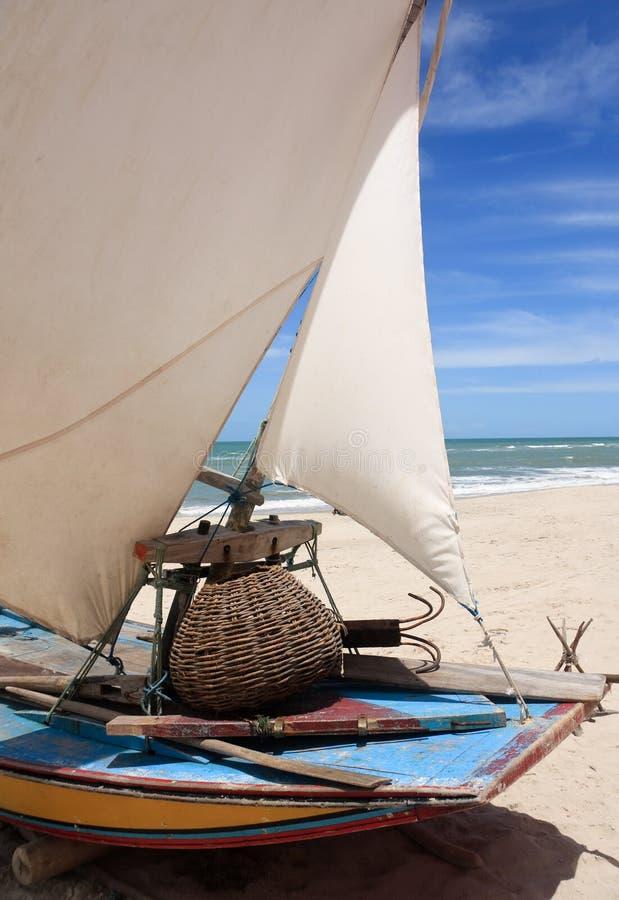 Bateau de pêche au Brésil photo stock