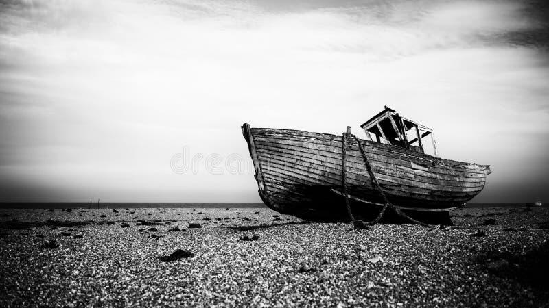 Bateau de pêche de Dungeness photographie stock