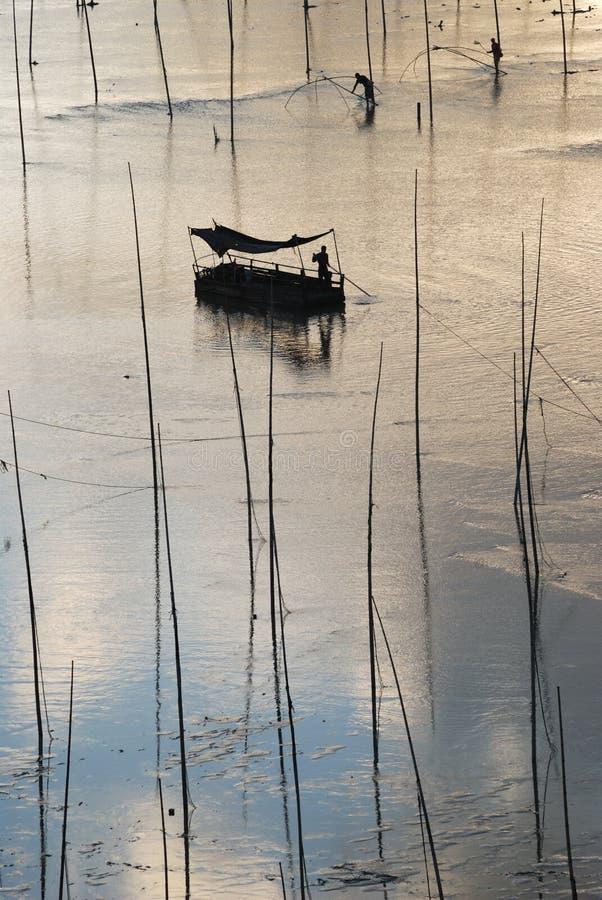 Bateau de pêche de Xiapu photos libres de droits