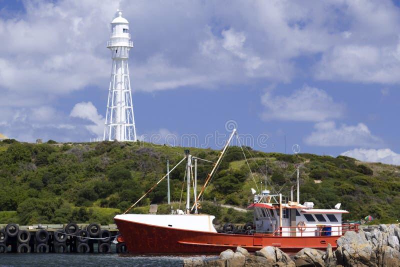 Bateau de pêche en port de Currie photo libre de droits