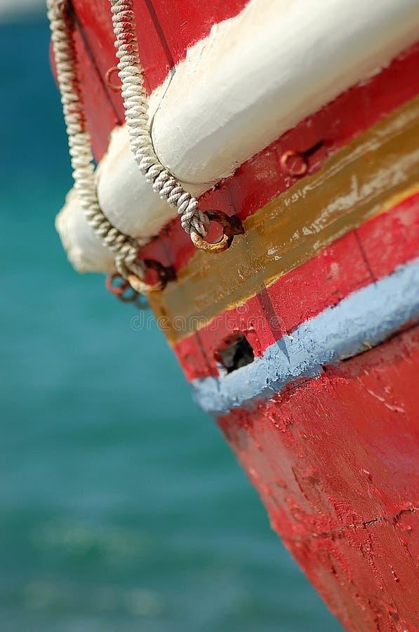 Bateau de pêche grec photo stock