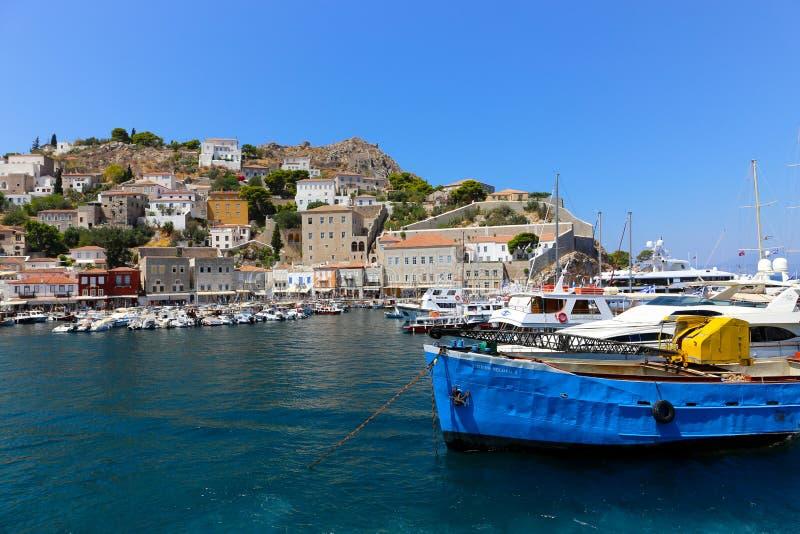 Bateau de pêche grec image libre de droits