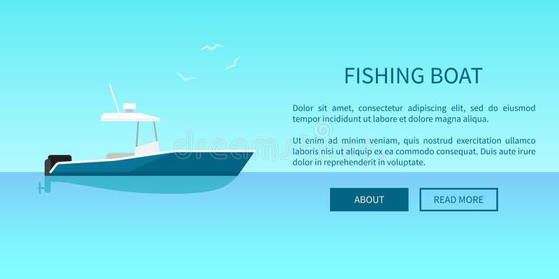 Bateau de pêche Marine Nautical Type de transport illustration libre de droits
