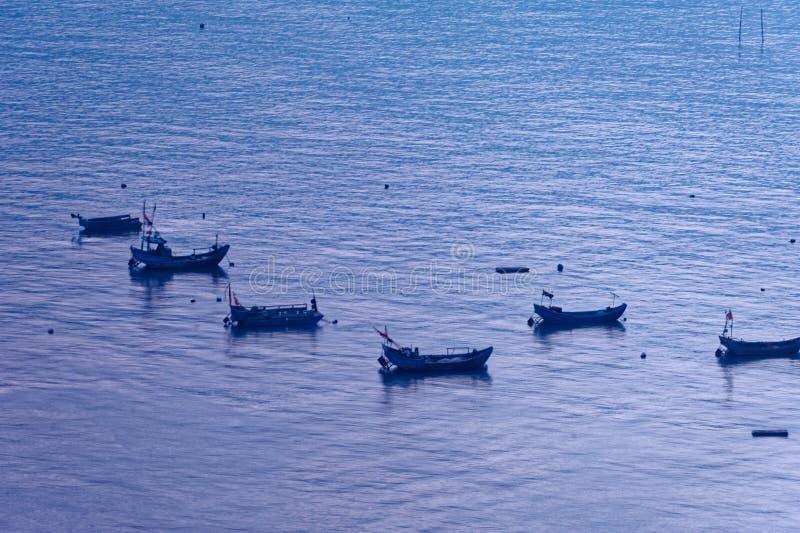 Bateau de pêche sporadique - paysage de Xiapu images libres de droits