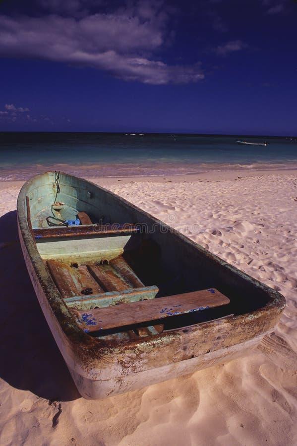 Bateau de palette vert, Cozumel photos libres de droits