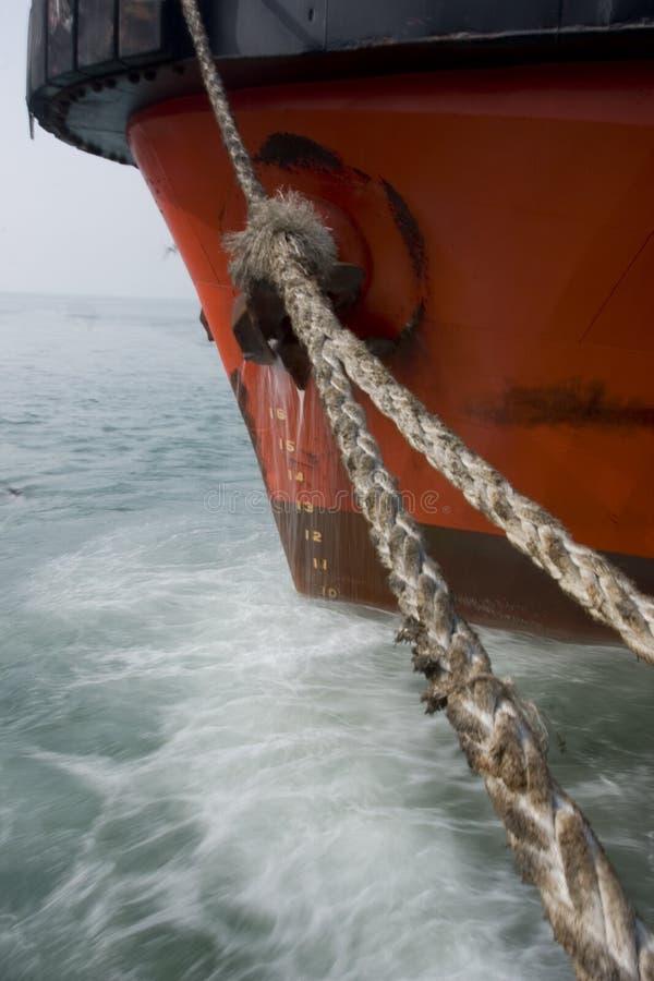 Bateau de paysage du Bahrain photographie stock libre de droits