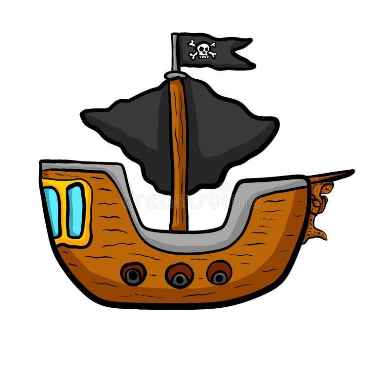 Bateau de pirate impressionnant illustration libre de droits