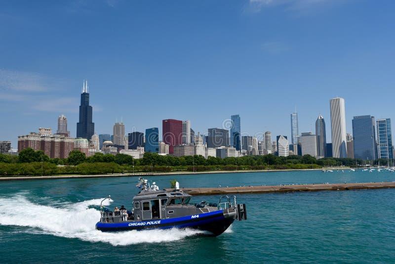 Bateau de police de Chicago photos stock