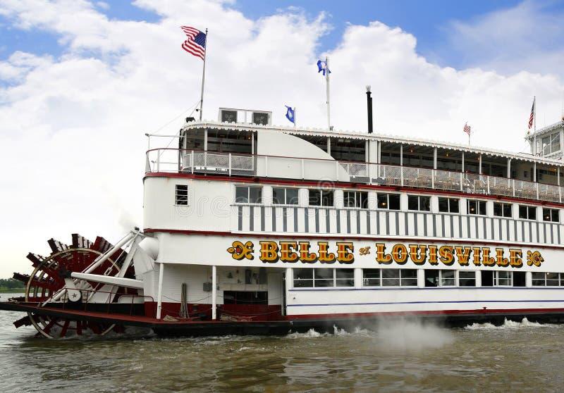 Bateau de rivière de Paddlesteamer sur la rivière Ohio à Louisville Kentucky photos libres de droits