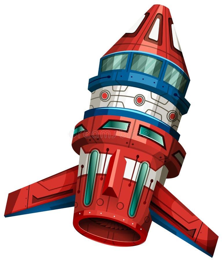Bateau de Rocket avec des ailes illustration stock