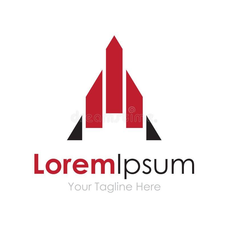 Bateau de Rocket explorant le nouveau logo d'icône d'éléments de concept de limites illustration de vecteur