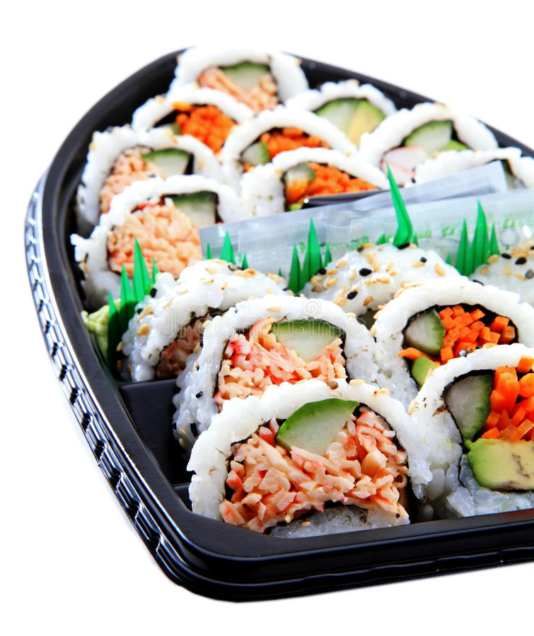 Bateau de sushi images libres de droits
