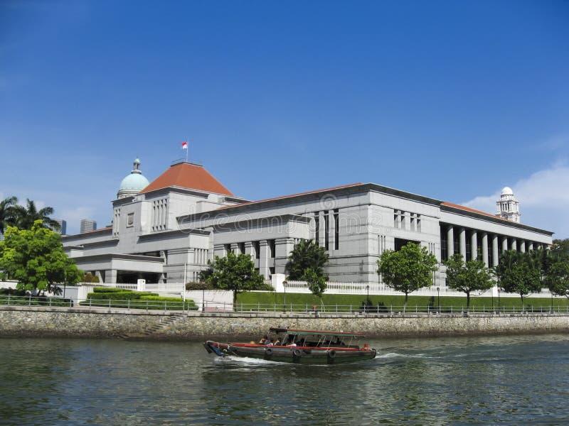 Bâtiments de gouvernement des palais de justice de Singapour photo stock