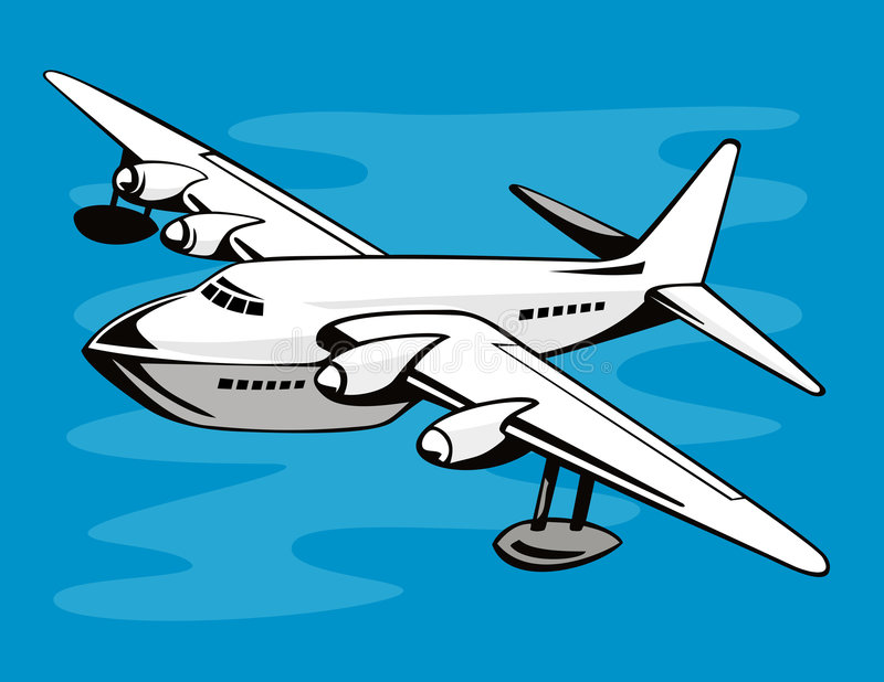 Bateau de vol illustration stock