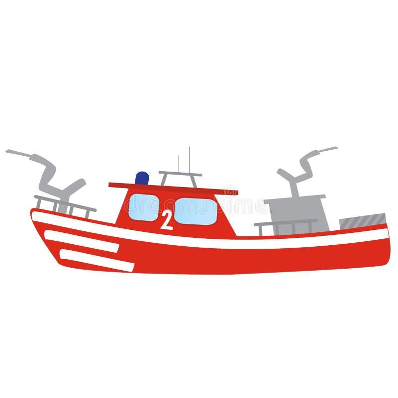 Bateau du feu rouge de secours de sapeur-pompier images stock