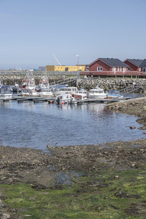Bateau du port d'Andenes, Norvège photographie stock libre de droits