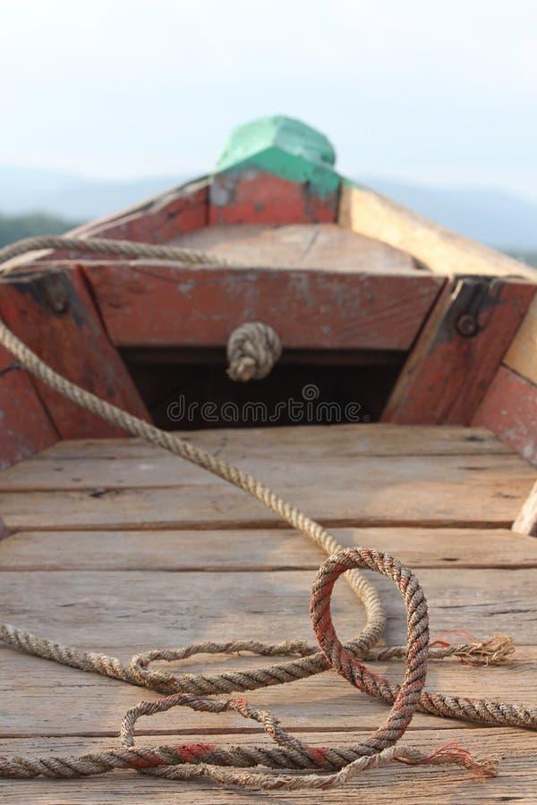 Bateau et corde photographie stock libre de droits
