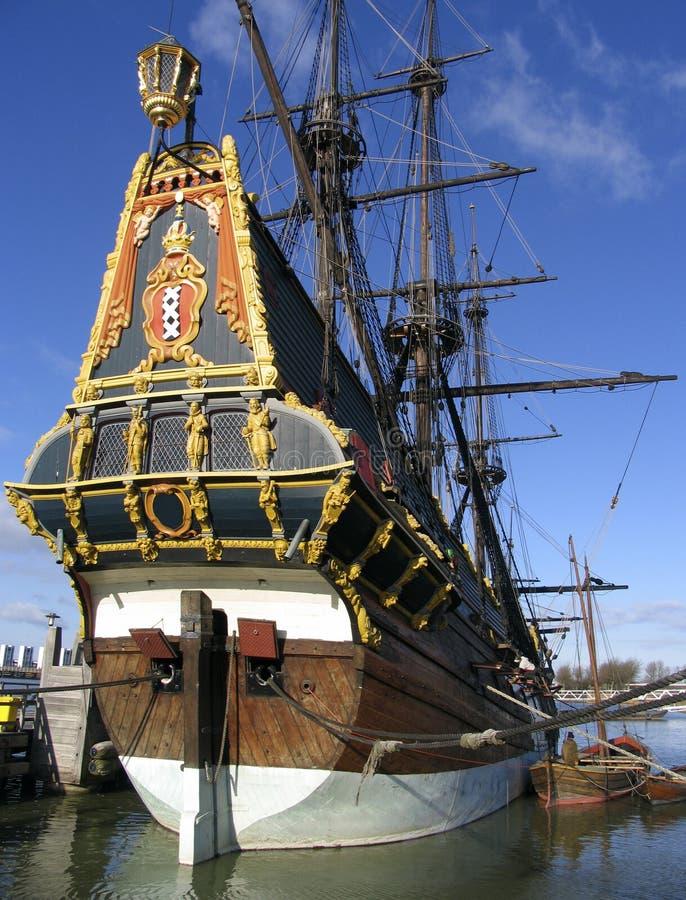 Download Bateau grand hollandais 1 photo stock. Image du âgé, navigation - 90702